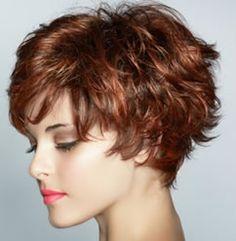 Short Hair Cut Vibrant Red
