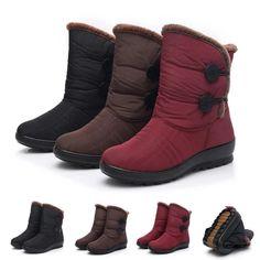 Waterproof warm faux fur snow boots for women Winter Fashion Boots, Winter Boots, Fashion Shoes, Fur Boots, Combat Boots, Shoe Boots, Doc Martens Boots, Outdoor Fashion, Snow Boots Women