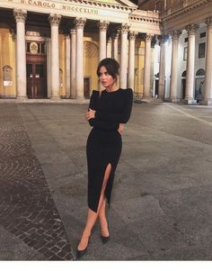 Fall Date Night Outfits Ideas Black dress with black heels . - Fall Date Night Outfits Ideas Black dress with black heels - ? Mode Outfits, Night Outfits, Dress Outfits, Fashion Dresses, Dress Up, Prom Dresses, Dress Long, Casual Dresses, Summer Dresses