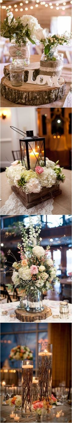 rustic wedding centerpieces decoration ideas