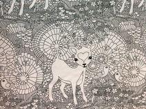 BAMBI Organic Jersey weiß/schwarz von PEHEMIA Bambi, Moose Art, Animals, Etsy, Fabrics, Patterns, Black, Animales, Animaux