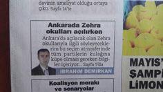 Ankarada Zehra Okulları Açılırken başlıklı yazım habervaktim gazetesinde yayında.Bu okula her branştan öğretmen aranıyor başta dkab ve seçmeli derslere yönelik.İlgililer demirkanibrahim@gmail.com'a tavsiye edecekleri kişilerin cvsini mail atabilir.Bende okul yetkililerine iletirim