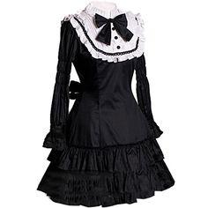 Partiss Damen Langaermel Suess Lolita Prinzessin Kleider Ruffles Knielang Lolita Kleid Abendkleid Ballkleid Fancy Dress Cosplay Kostueme Partiss http://www.amazon.de/dp/B016WD1URU/ref=cm_sw_r_pi_dp_fPArwb1F9FMJA