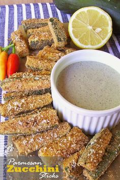 Baked Parmesan Zucchini Sticks   www.sugarapron.com   A perfect #healthy, crispy, tender, salty and flavorful little #zucchini #appetizer