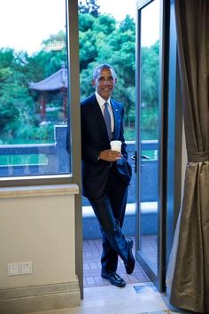 The White House September 9 at · President Obama waits between meetings at the West Lake State Guest House. (Official White House Photo by Pete Souza) Black Presidents, Greatest Presidents, American Presidents, American History, Presidents Usa, American Pride, Michelle Obama, First Black President, Mr President