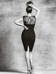 Beautiful Robyn Lawley Mango Launching Plus Size Line, Violeta