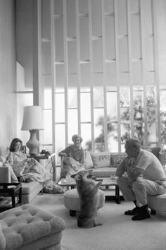 Garry Cooper & family in their Hollywood home, 1959, photo by Willy Rizzo