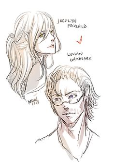 I SHIP THEM MORE THAN CLACE. I'M SORRY. //sobs  Jocelyn Fray/Fairchild and Luke Garroway/Lucian Graymark (c) Cassie Clare