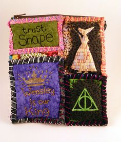 Harry Potter maybe part of one of those fabric books for my kids. =)