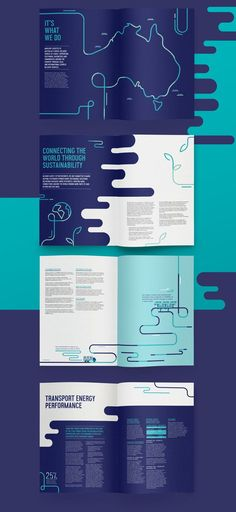 This is an annual report designed for a logistics company. The whole concept is based on the 'pipes' which represent how everything is transported in an easy way.