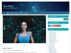 If you are looking for theme to build blog website Blue Planet is wonderful choice for you. Especially, the theme is design with Two columns and One column layout, let...