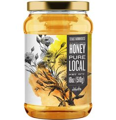 Honig Label designs for a DFW apiary selling honey to local restaurants, Whole Foods and farmer's ma Honey Packaging, Food Packaging Design, Bottle Packaging, Honey Jar Labels, Honey Label, Honey Bottles, Honey Logo, Honey Brand, Bee Design