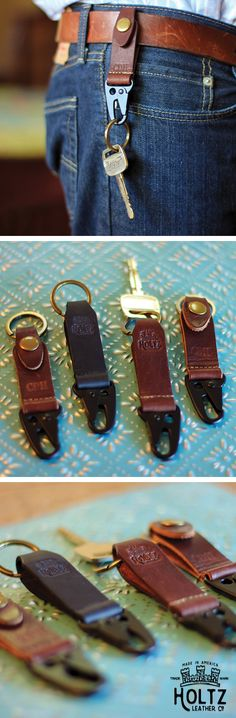 The Henry Fine Leather Keychain is handmade right here in our shop with the finest of Full Grain American leathers. We hand pick our leather hides from a local tannery ~ for a rustic look and feel. This is a small gift that will be used and loved for a lifetime!