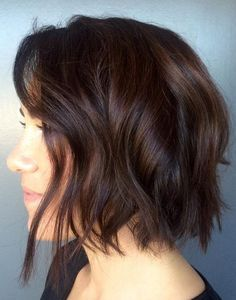 gorgeous dark brunette hair color idea