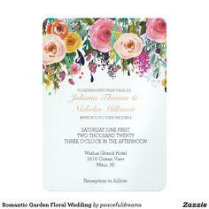Romantic Garden Floral Wedding Card