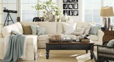 Modern Shabby Chic Living Room--Love!