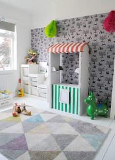 Sasha's Little Girl Bedroom - The Spirited Puddle Jumper Boy Toddler Bedroom, Toddler Playroom, Baby Boy Nursery Themes, Baby Boy Rooms, Girls Bedroom, Playroom Ideas, Bedroom Ideas, Toddler Boys, Retro Lounge