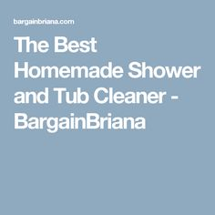 The Best Homemade Shower and Tub Cleaner - BargainBriana