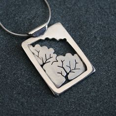 Silver Pendant 'Woodland Window' silver by AngelaWrightDesigns, £76.00