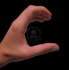 sign language....the letter c