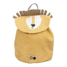 Lion by Trixie. cotton with water-repellent coating. Dimensions : 23 x 30 cm. Lion, Mini Backpack, Leather Backpack, Mini Mochila, Swim Lessons, Cute Backpacks, Coton Biologique, Friend Wedding, Baby Items
