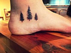 My new pine tree tattoo! I love it more than I ever thought I could.