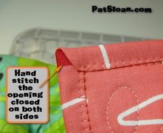 Pat Sloan's QuiltersHome: Pat Sloan Machine Binding tutorial with Blanket Stitch- Cleaver!