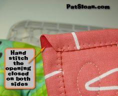 blanket stitch machine finished binding