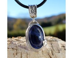 Medallion - Soldered pendant with Sodalite stone from Myanmar (Burma) $29 by AtelierQ