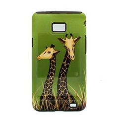 2 In 1 Hybrid Case Double Giraffe Cover Case For Samsung For Galaxy S Ii/I91