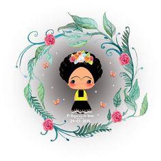 Frida Kahlo Cartoon, Mexico Wallpaper, Freida Kahlo, Frida Art, Diego Rivera, Mexican Party, Kawaii Cute, Betty Boop, Creative Inspiration