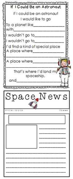 Space ELA and Science Unit! Loaded with great ideas for writing!