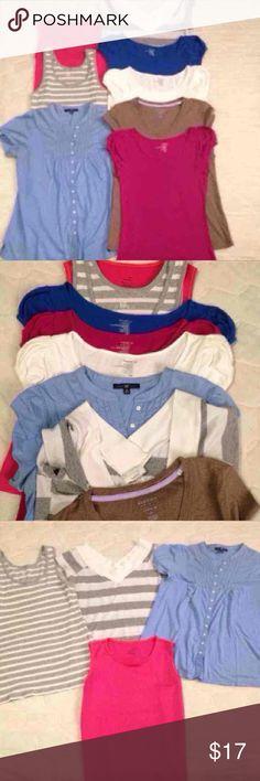 8 summer shirts 8 summer shirt bundle (size M)  • 2 tanks (Nike & Gap) • 5 short sleeve shirts (Old Navy & Sonoma) • short sleeve button up blouse (Gap)  All in very good condition GAP Tops Tees - Short Sleeve