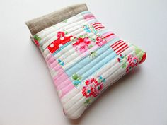 log cabin patchwork pouch