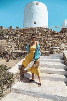 e3afaed02890 yellow dress and denim jacket in Mykonos - Michael Kors Dress worn by Stella  Asteria -