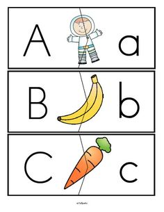 ***FREE***  Alphabet upper and lower case letters puzzle match-ups, full alphabet. Set 2