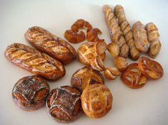 selection of 1:12th scale miniature breads