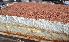 Polish Desserts, Polish Recipes, No Bake Desserts, Baking Recipes, Cake Recipes, Dessert Recipes, Food Cakes, Cupcake Cakes, Banana Pudding Recipes