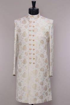 49 ideas for wedding suits men ivory Sherwani For Men Wedding, Wedding Dresses Men Indian, Wedding Outfits For Groom, Sherwani Groom, Mens Sherwani, Wedding Dress Men, Ivory Wedding, Designer Suits For Men, Designer Clothes For Men
