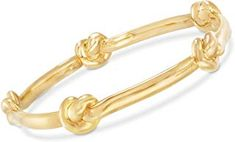 Shop a great selection of Ross-Simons Certified Italian Andiamo Yellow Gold Knot Station Bangle Bracelet. Find new offer and Similar products for Ross-Simons Certified Italian Andiamo Yellow Gold Knot Station Bangle Bracelet. Gold Bangles, Bangle Bracelets, Cubic Zirconia Engagement Rings, Cultured Pearl Necklace, Sapphire Pendant, Station Necklace, Pendant Set, Sterling Silver Rings, Women Jewelry