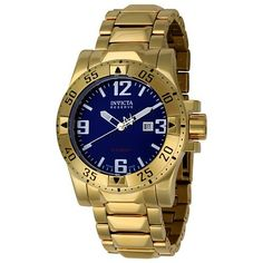 Invicta Men's 6248 Reserve Collection Excursion Edition Watch Invicta. $210.67. Precise Swiss-quartz movement. Water-resistant to 660 feet (200 M). Date function. Blue dial with luminous hands, arabic numerals and hour markers; screw down crown. Durable flame-fusion crystal; polished 18k gold-plated stainless steel case and bracelet