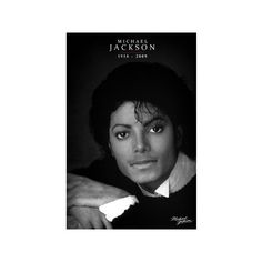 Michael Jackson (Commemorative, B&W) Mini Poster (16 BRL) ❤ liked on Polyvore featuring home, home decor and music home decor