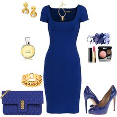 """""""Stylish in blue"""" outfit created by tsteele"""