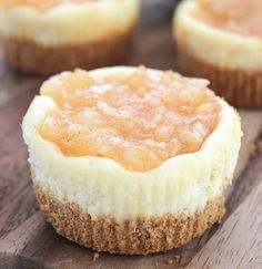 Apple Pie Mini Cheesecake Bites