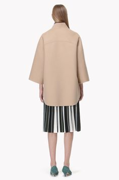 Stand collar oversized coat