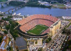 "Neyland Stadium - Knoxville, TN.  Home of the Tennessee Volunteers.  Got to ""tailgate"" and post-game party with the ""Vol Navy"" boats owned by a friend of mine."