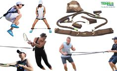 Tennis fitness resistance bands to increase speed, agility and power for tennis players of all levels and ages. Improve dynamic footwork, strength and balance to take your tennis game to another level.