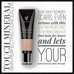 Skin perfecting concealer and photoshop in a bottle - Touch Mineral concealer Www.youniqueproducts.com/elisabeth