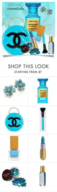 """""""Blue"""" by interesting-times ❤ liked on Polyvore featuring Kenneth Jay Lane, Tom Ford, Chanel, Habit Cosmetics, Winky Lux, Herbivore and springperfume"""