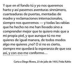 carta de frida kahlo a diego rivera - Buscar con Google
